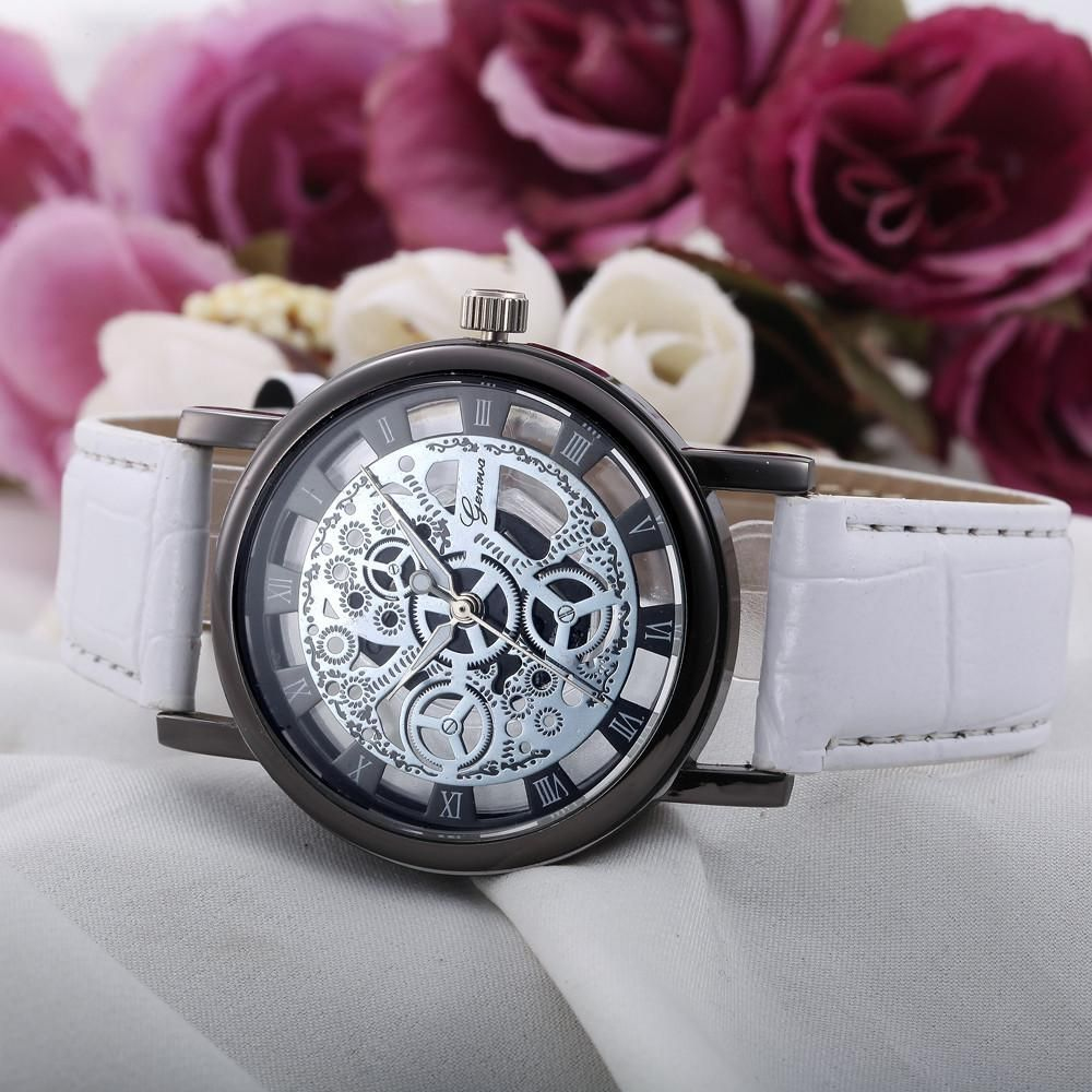 35a9e1b649c Women Hollow Analog Quartz Stainless Steel Wrist Watch