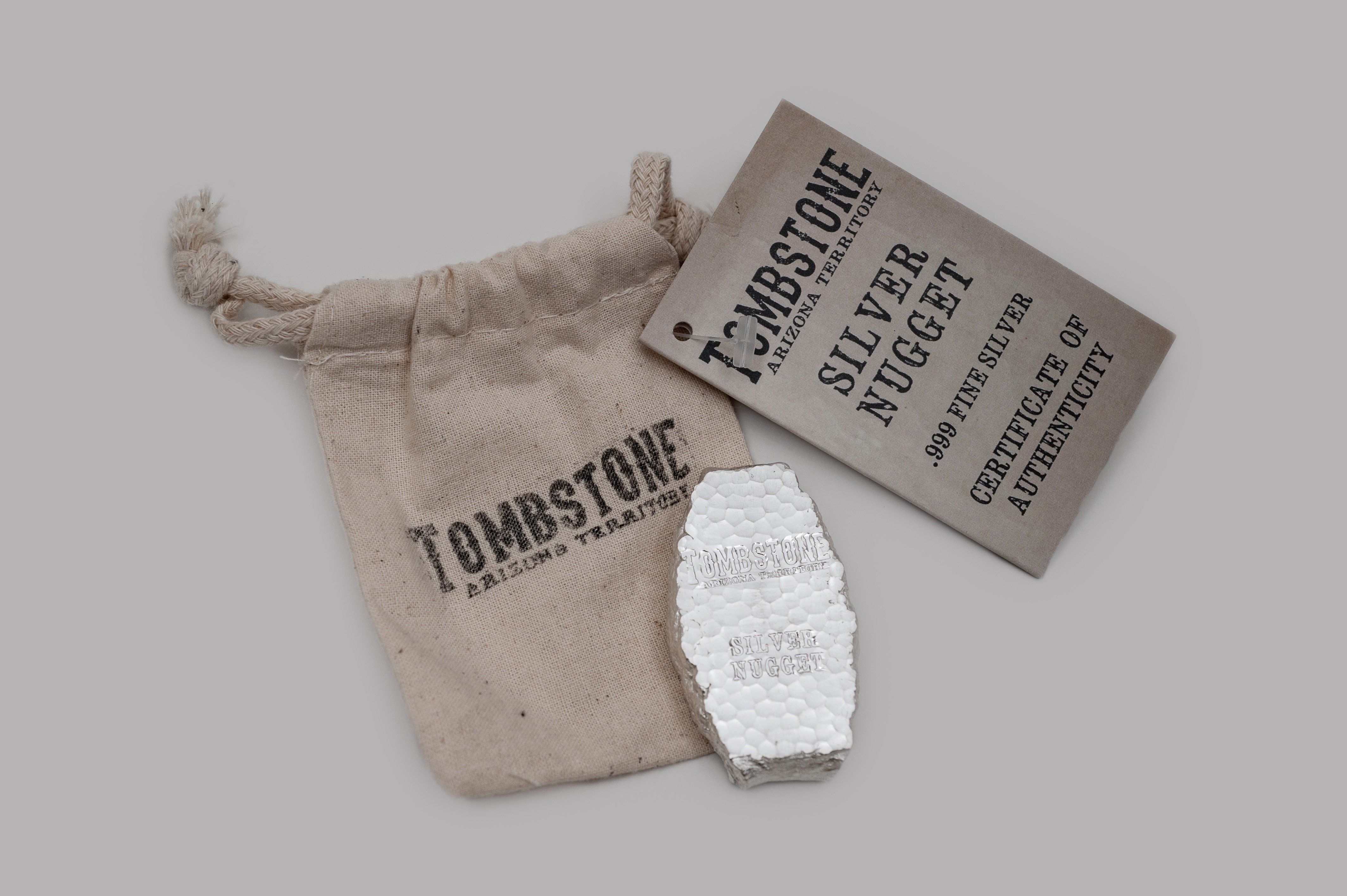 Scottsdale 5oz Tombstone Silver Nugget Silver Bars Silver Bullion Silver