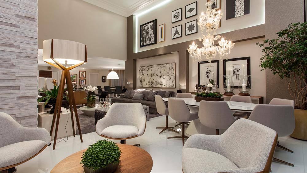 Apartamento com decora o contempor nea e cl ssica e salas for Casa moderna classica