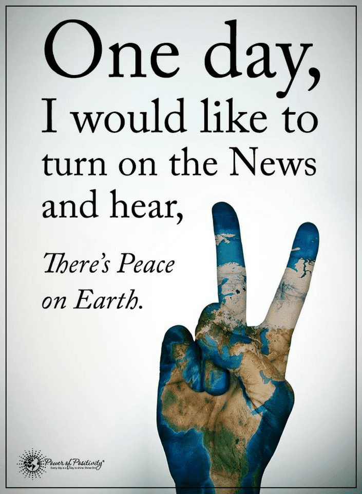 Quotes Someday You Would Turn On The News And Hear There's Finally Magnificent Peacemaker Quotes