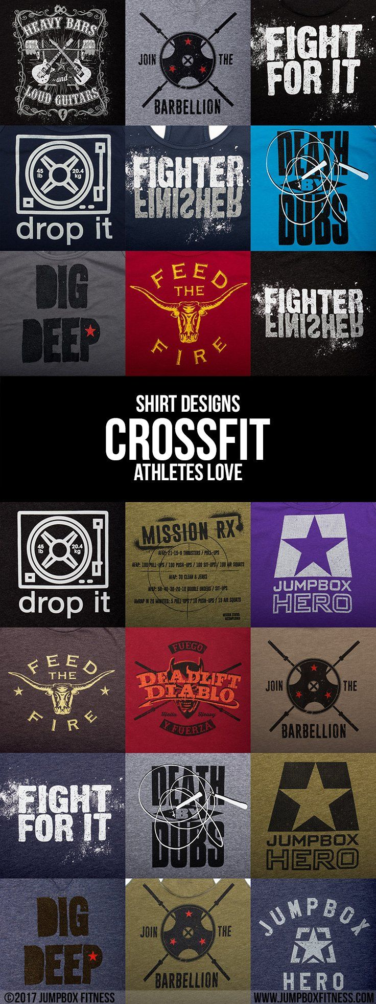 c0747a1fd Shirt Designs Crossfit Athletes Love - Jumpbox Fitness - Gym Workout  t-shirts, tank tops, and hoodies - Great for Crossfit, weightlifting,  kettlebell, ...