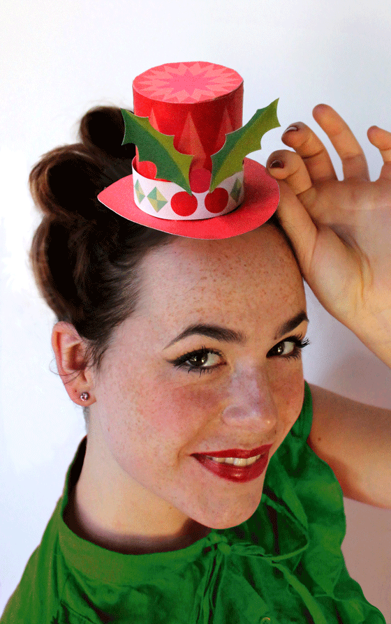 how to make christmas paper hats