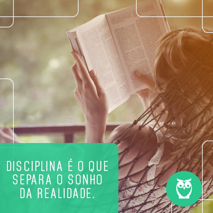Muita disciplina na hora de estudar! #frases #motivação #estudos #concursos #concurseiro