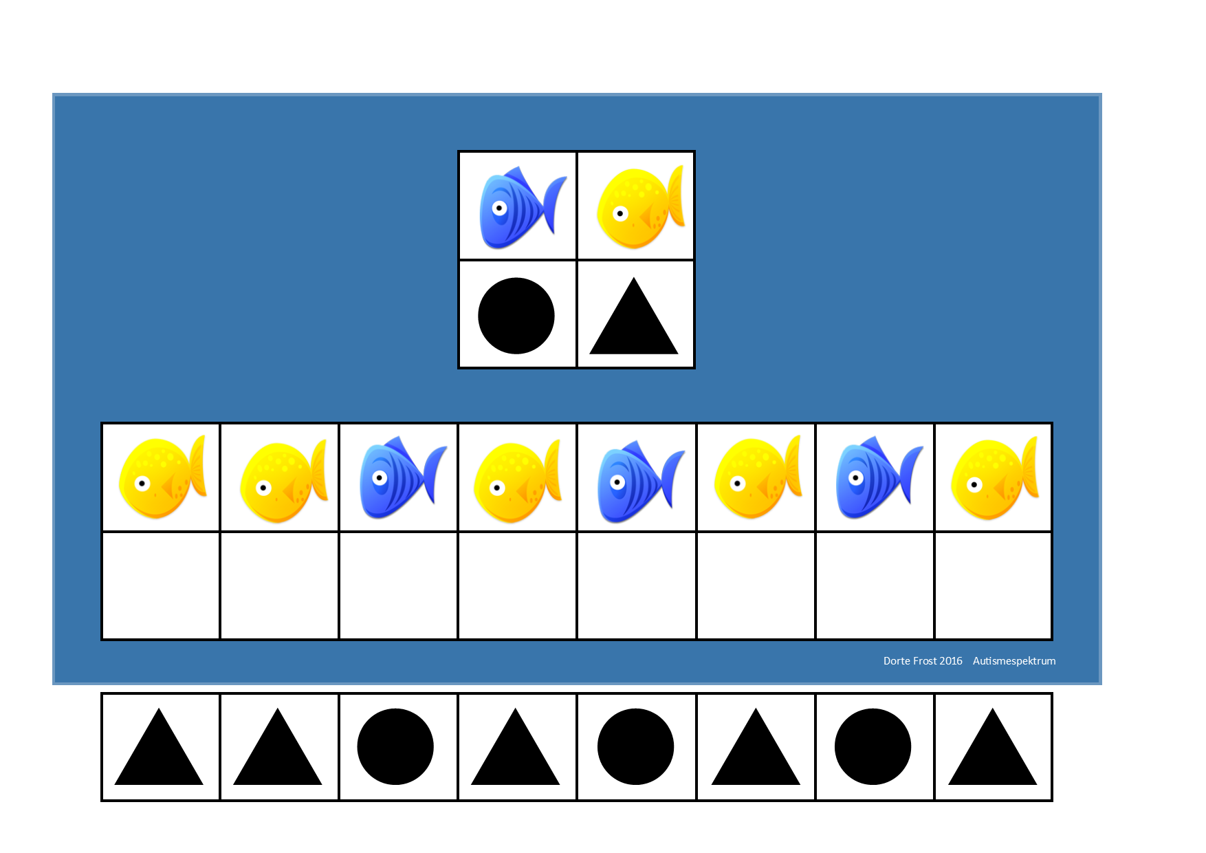 Board And Tiles For The Fish Visual Perception Game 2