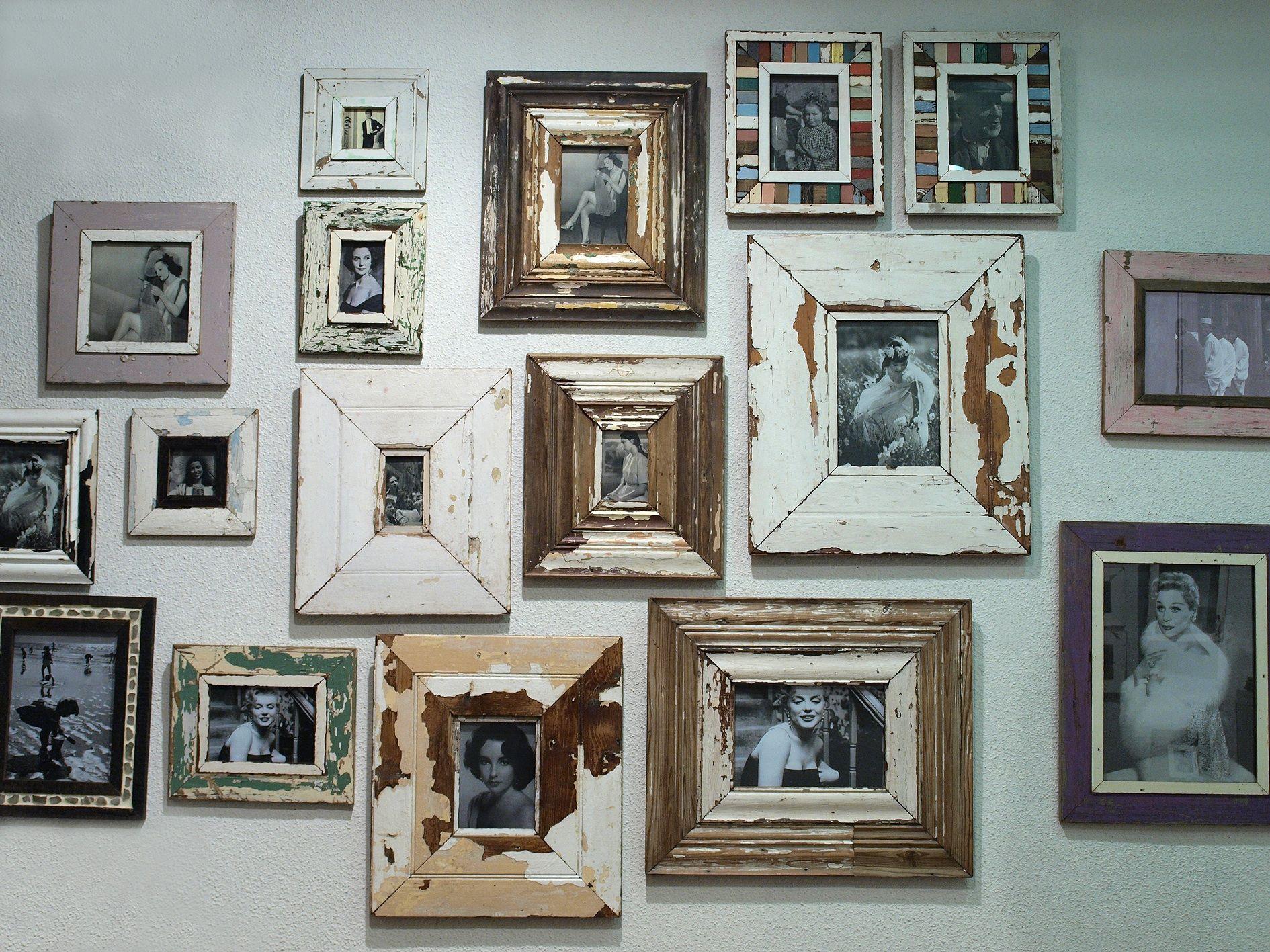 Marcos con madera reciclada locales comerciales - Decorar marcos de madera ...