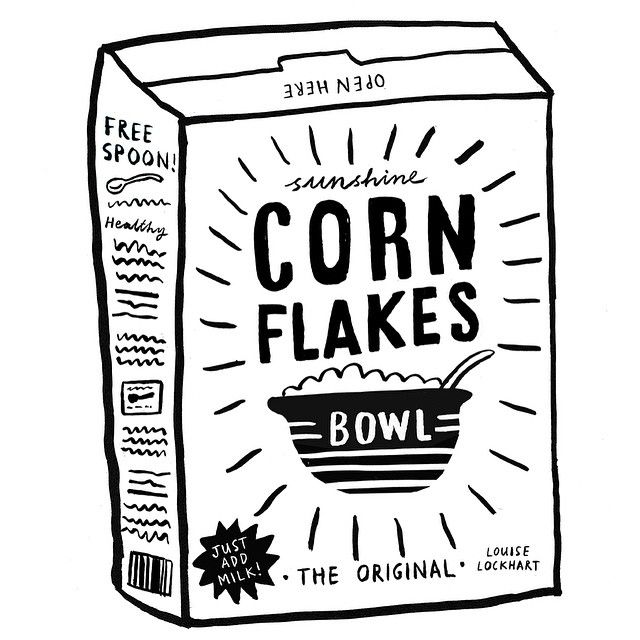 Corn Flakes #louiselockhart #cornflakes #drawing #ink #cereal ...