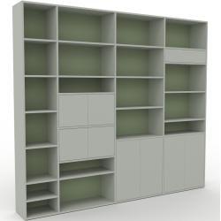 Photo of Wohnwand Sandgrau – Individuelle Designer-Regalwand: Schubladen in Sandgrau & Türen in Sandgrau – Ho