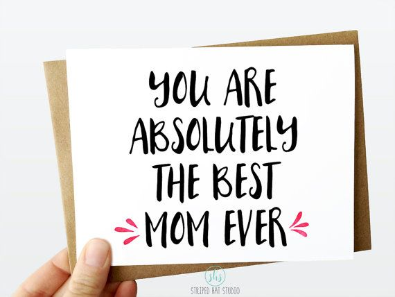 Best Mom Ever Valentines Day Card Valentines Day Card For Mom