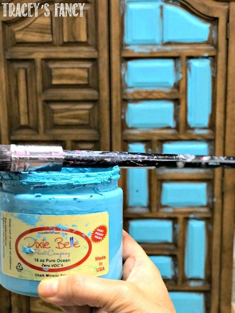 A vibrant teal chalk paint color by Dixie Belle Paint ...
