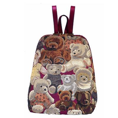 Mon sac à dos Ours carmin Royal Tapisserie pour faire mes commissions