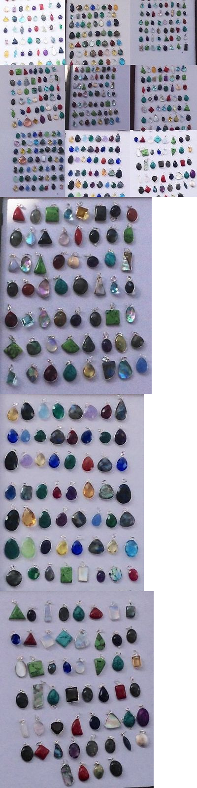 Pendants and Lockets 45079: 1000Pc Wholesale 925 Silver Plated All Variety Mix Gemstone Pendant Lot(1250Gm.) -> BUY IT NOW ONLY: $599 on eBay!
