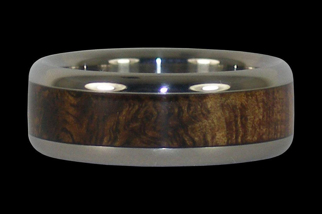 Dark Tiger Koa Wood Titanium Ring