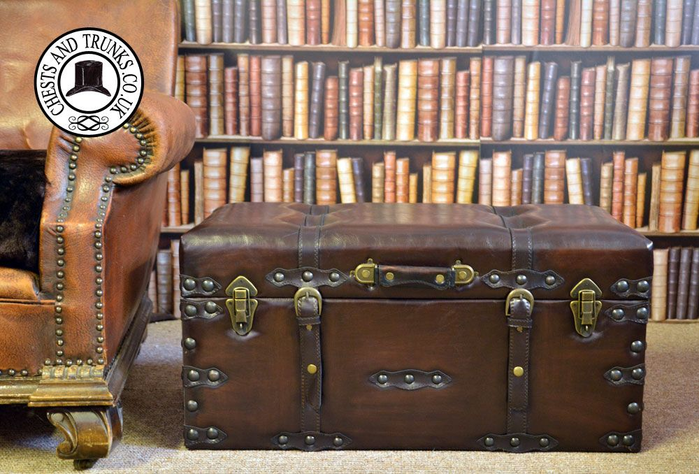 Vintage Leather Storage Trunk - Medium ? Chests u0026 Trunks & Vintage Leather Storage Trunk - Medium ? Chests u0026 Trunks | Living ...