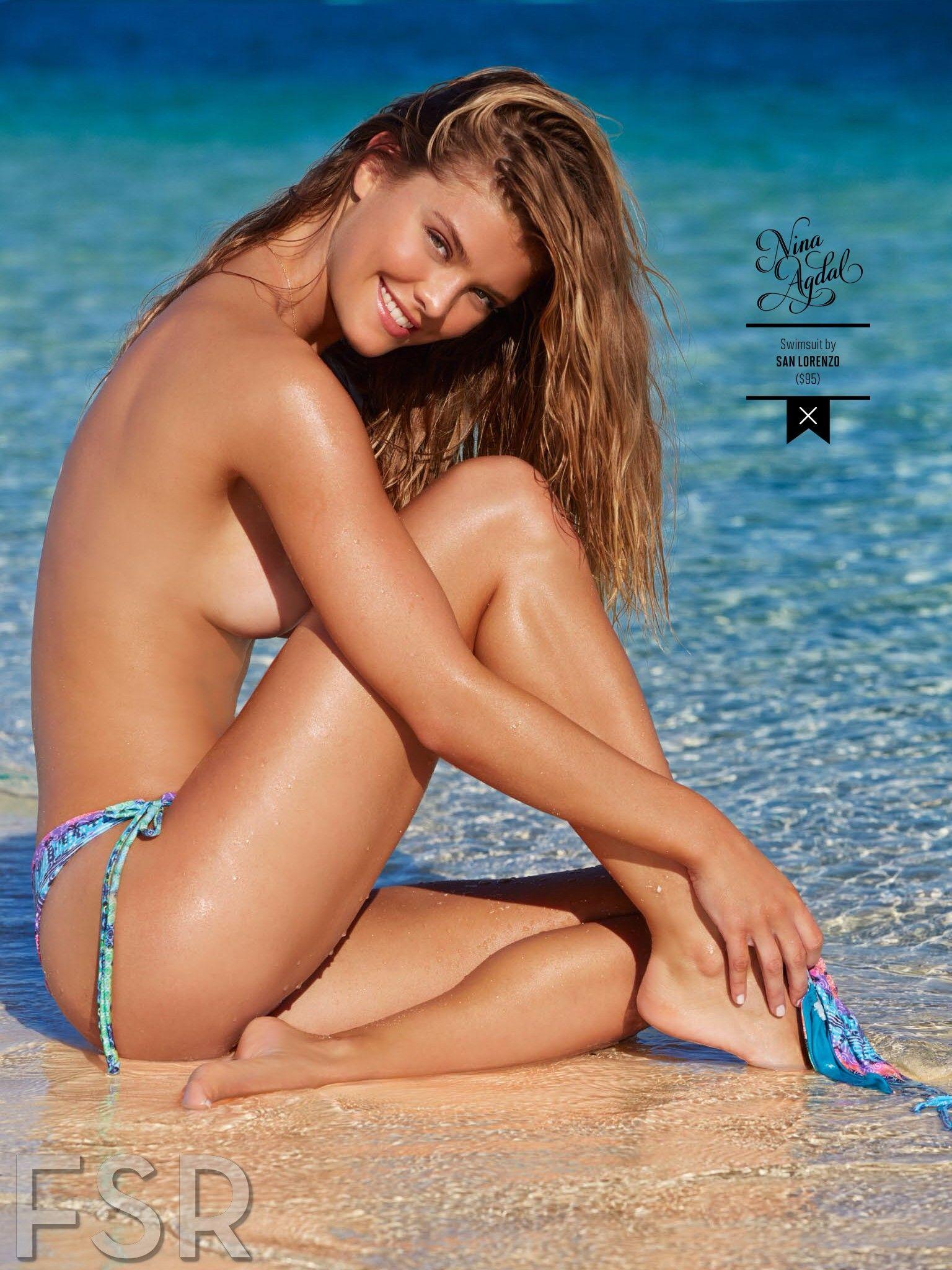 Daring beauty skis in skimpy bikini 15