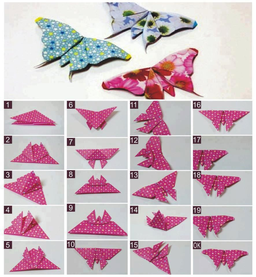 DIY paper butterfly: photos, schemes and patterns. How to make a paper butterfly 85