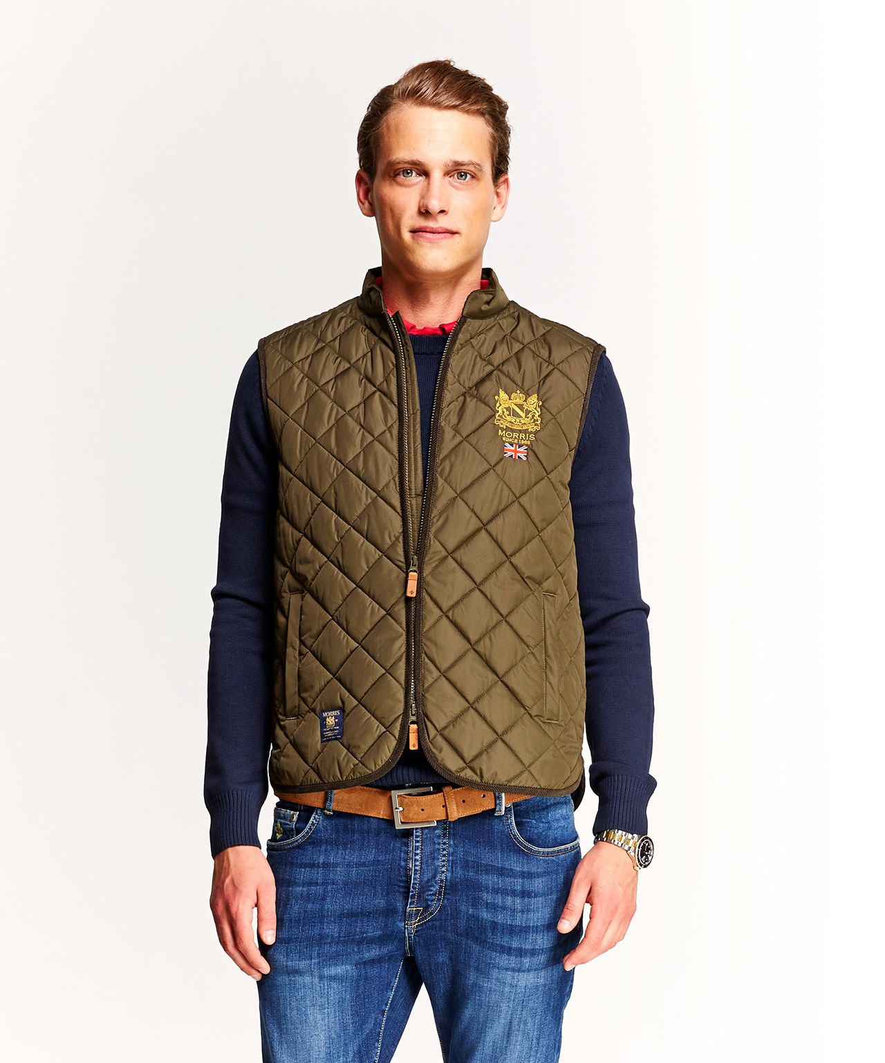 Morris Trenton Quilted Vest   Quilted vest, Jean jacket vest