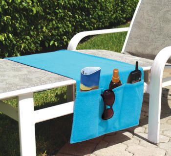 How easy is this quick sew project to make using a beach towel or terry clothe.  Perfect for lounging at the pool.