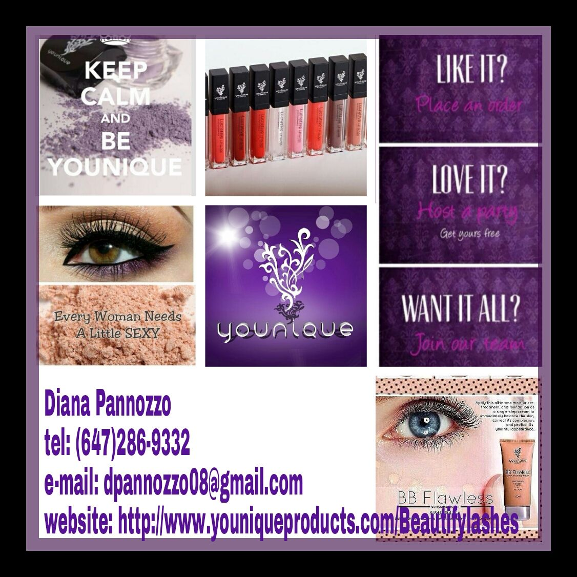 Tired of applying false lashes? Try out the 3-D fibre lash mascara! All natural products. Be Younique!! BEST MASCARA IN THE MARKET!