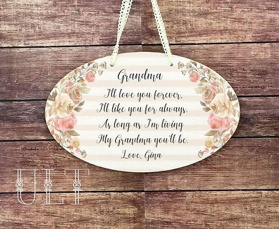 Grandma Gift Personalized Christmas Birthday New