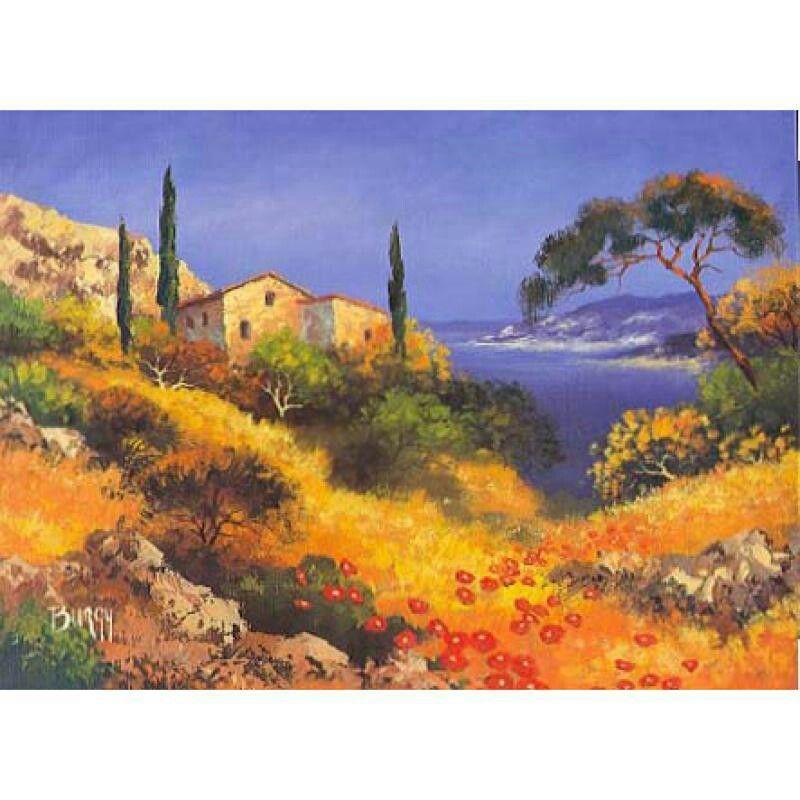 La chaleur et les lumières de la Provence | Peinture paysage, Paysages en peinture à l'huile ...