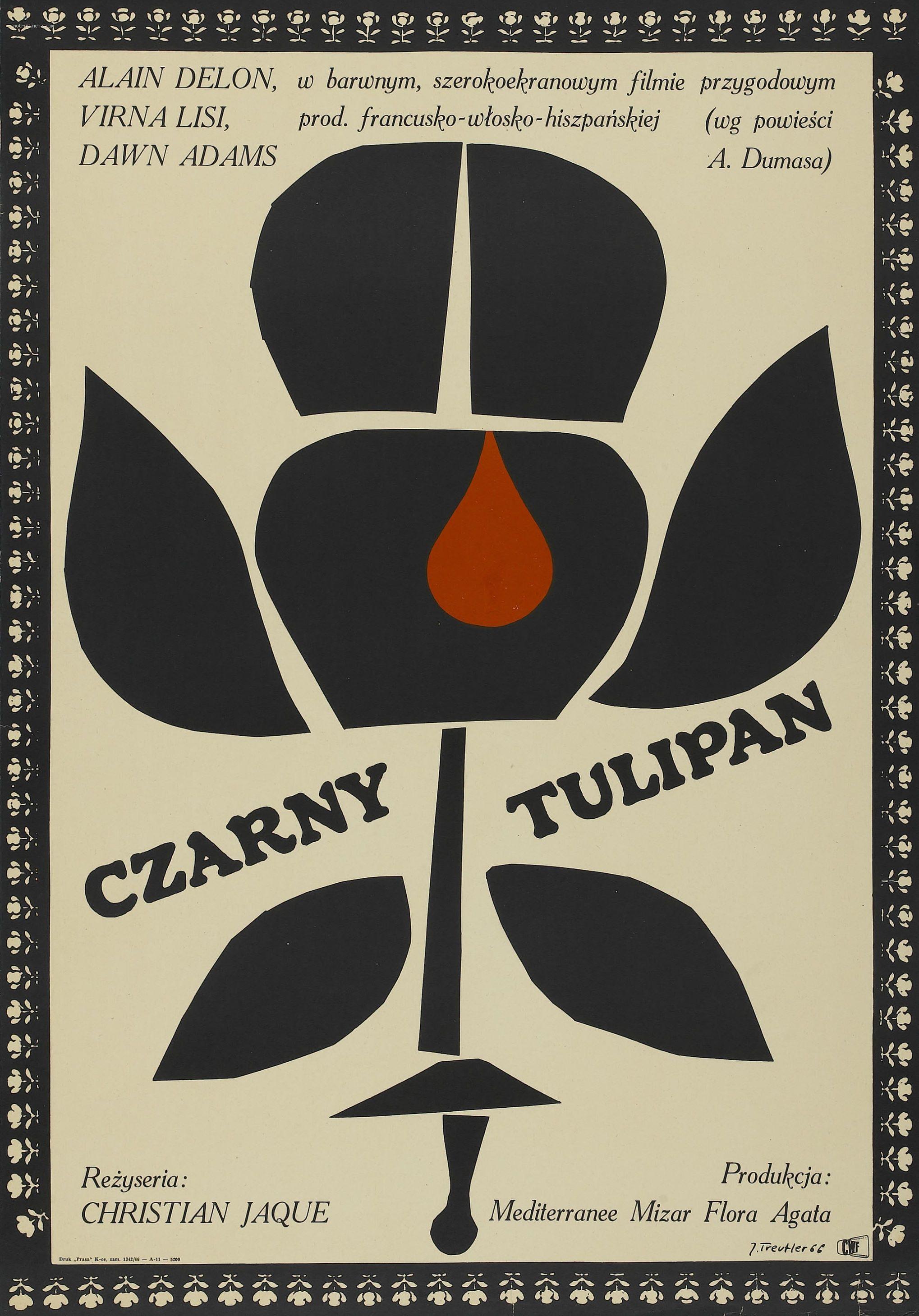 Black Tulip #film #poster 1964 (Poland)
