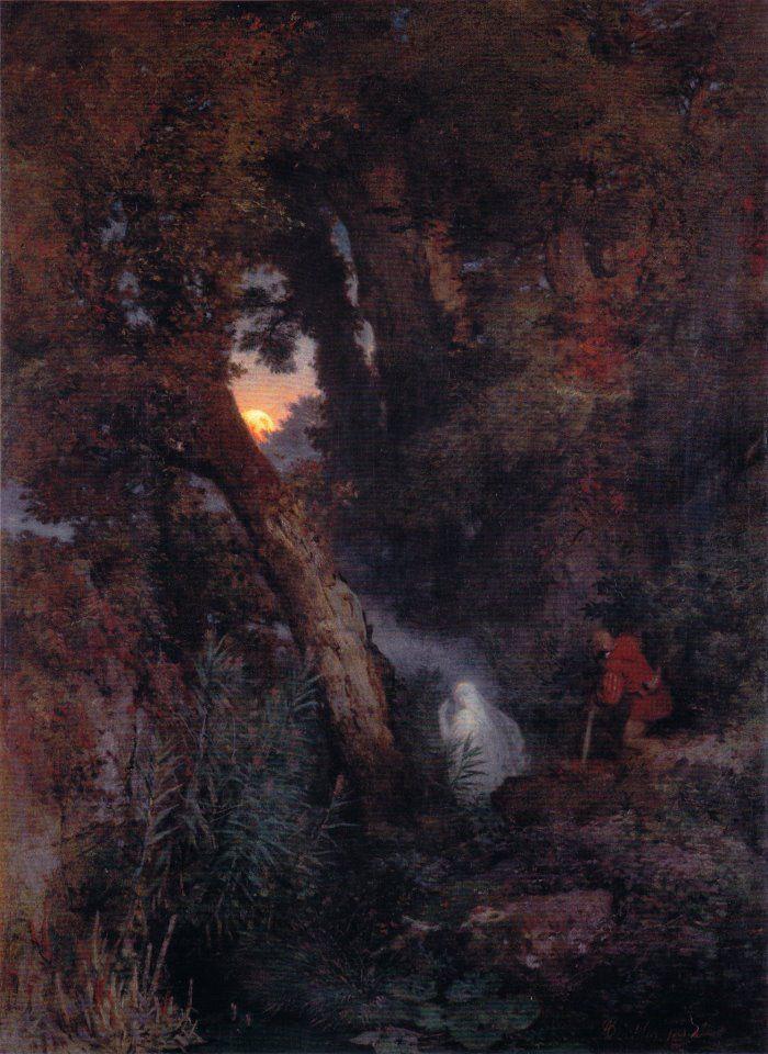 Arnold Böcklin - Das Irrlicht / The Ignis fatuus (1862)