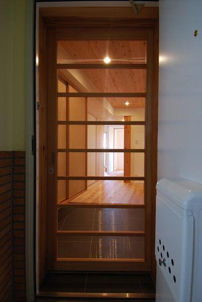 マンションの玄関網戸は木製引戸でつくる 設計 プランニング 木のマンションリフォーム リノベーション マスタープラン一級建築士事務所 玄関網戸 マンション 玄関網戸 引き戸 玄関
