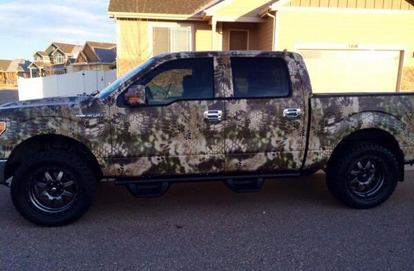 Kryptek truck wrap