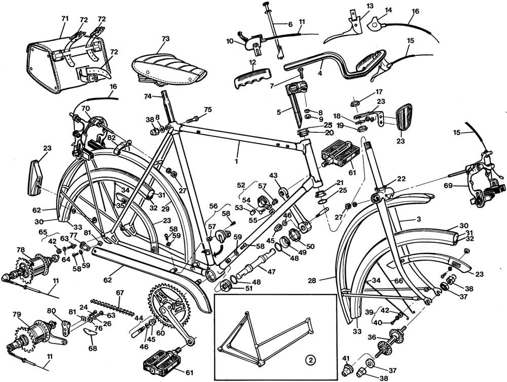 Bicycle Diagram Exploded