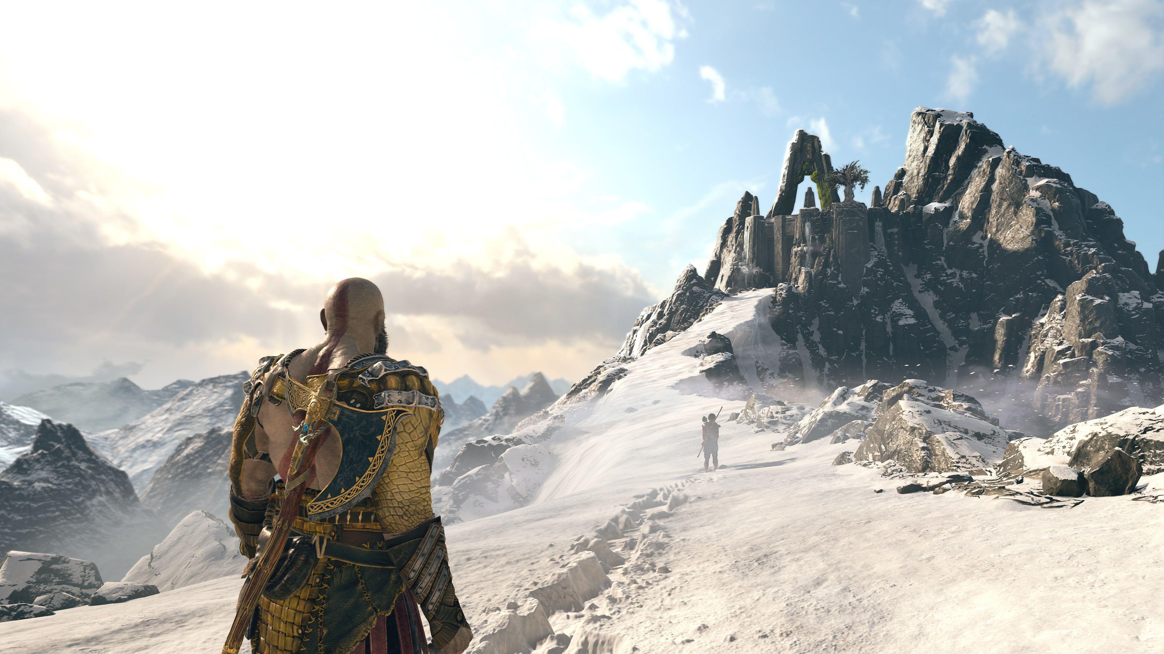 God Of War Kratos Atreus Playstation 4 Norse Mythology 4k Wallpaper Hdwallpaper Desktop In 2021 Norse Mythology God Of War God Of War Kratos And Atreus