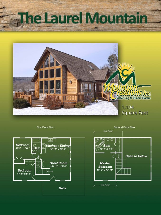 Do It Yourself Home Design: Laurel Mtn Log Home Floor Plan