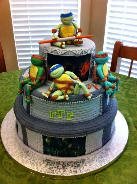 Teenage Mutant Ninja Turtles Cake Ideas Cake Birthday cakes and