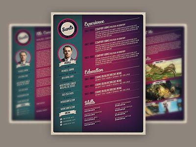Retro Style Resume Sans serif fonts, Sans serif and Serif - font to use on resume
