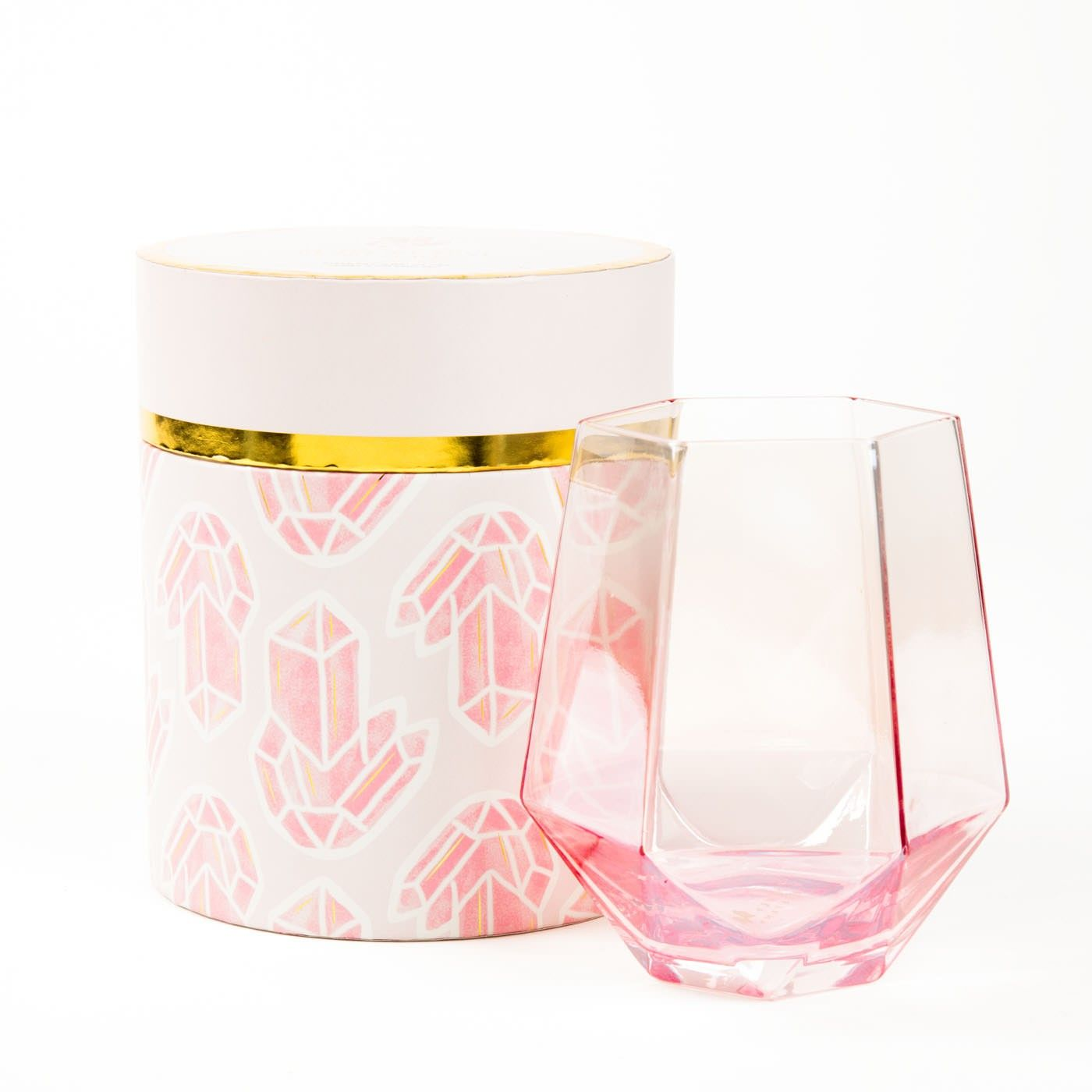 2b3f48b4e39 Rose Diamond Stemless Wine Glass | High Occult Femme | Wine glass ...