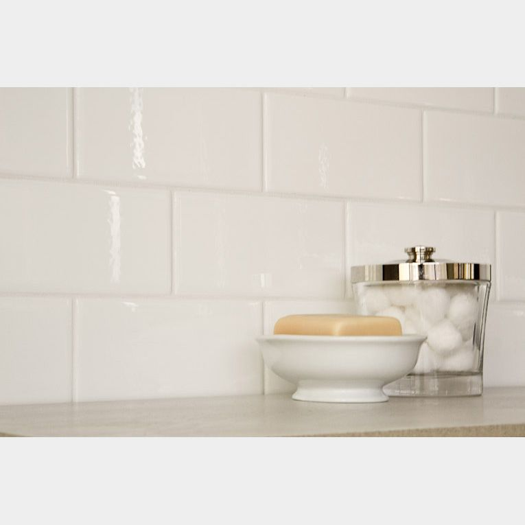Manhattan White Subway Tile X Backsplash Ideas Pinterest - 4x8 subway tile from daltile