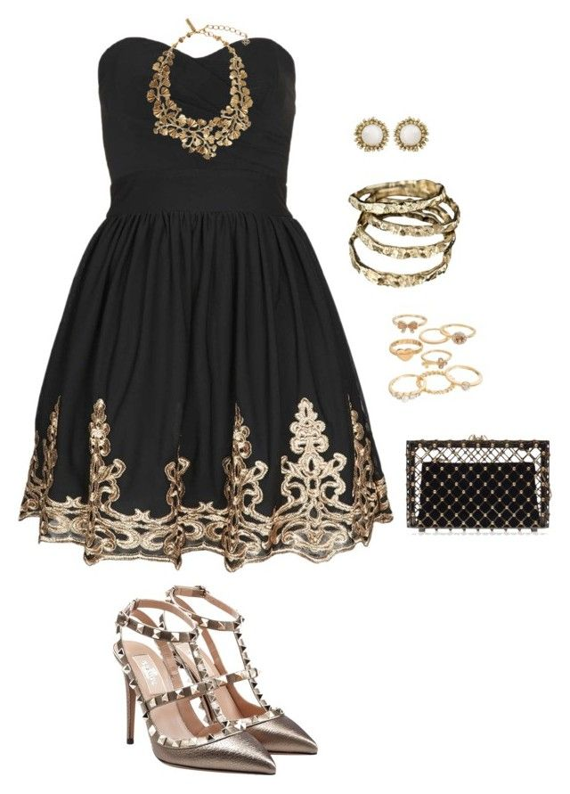 Black And Gold Black And Gold Outfit Girly Dresses Hollywood Dress