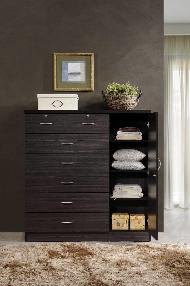 Home Dresser Shelves Side Cabinet 7 Drawer Dresser