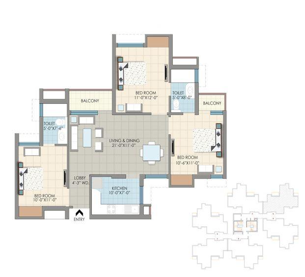 Nri Residency Pari Chowk Greater Noida- Price list, Floor Plan, of 3 & 4 BHK Apartments