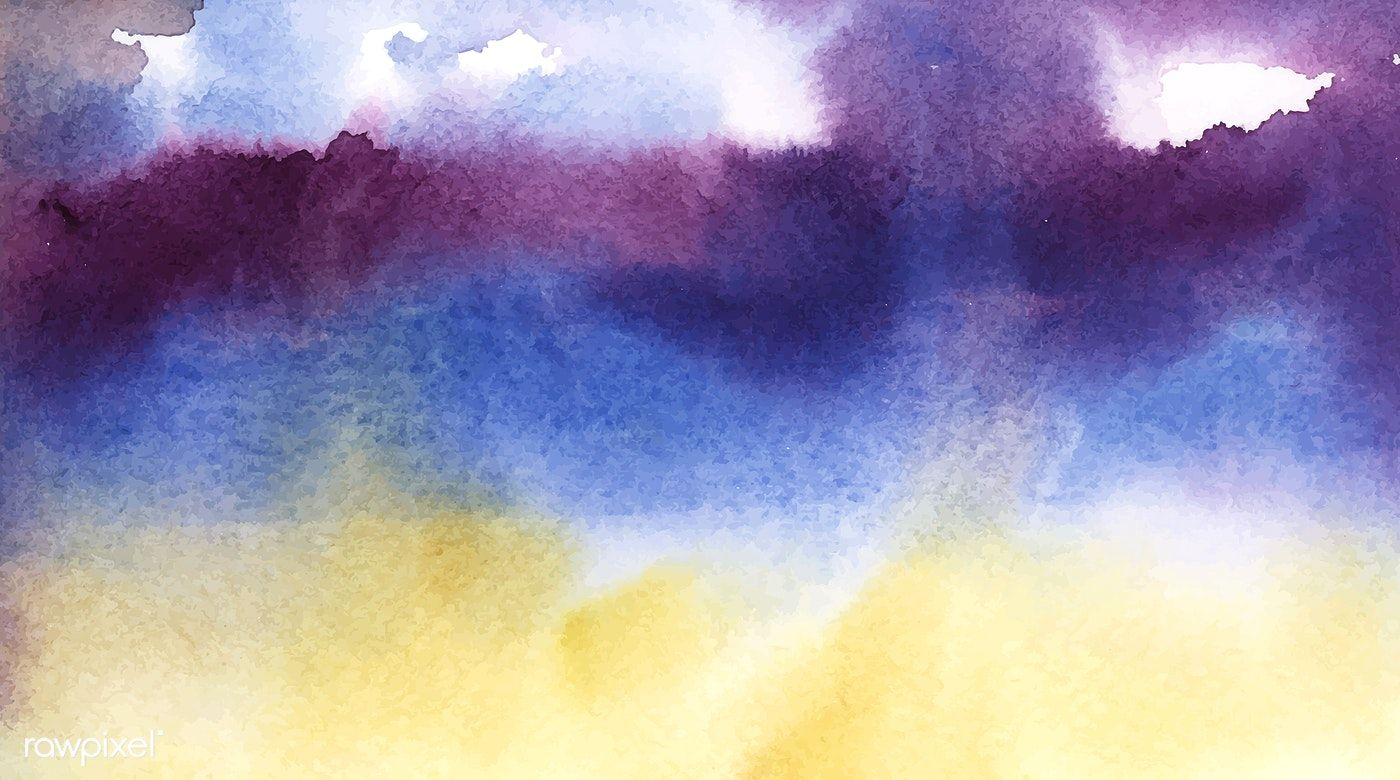 Abstract Blue And Purple Watercolor Stain Texture Free Image By
