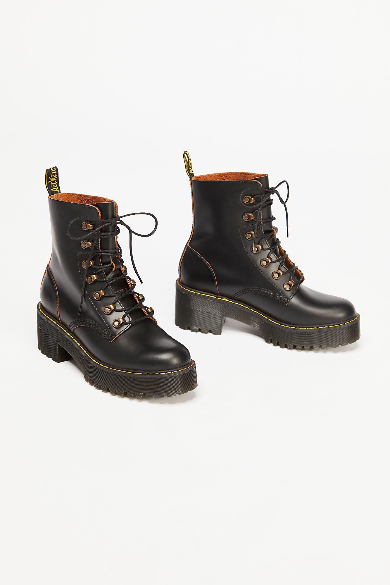 Dr Martens Brown Platform Boots Sale Dr Martens Leona