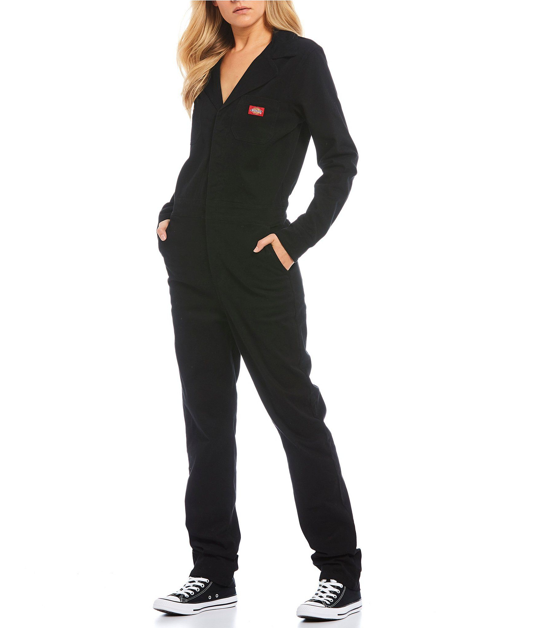 dickies relaxed fit button front coveralls black xs in on dickies coveralls id=18534
