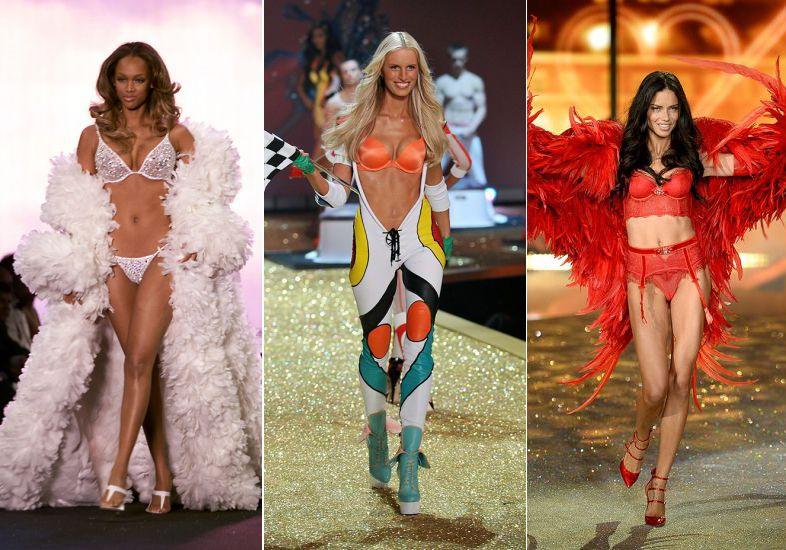 A mudança das modelos da Victoria's Secret em um GIF