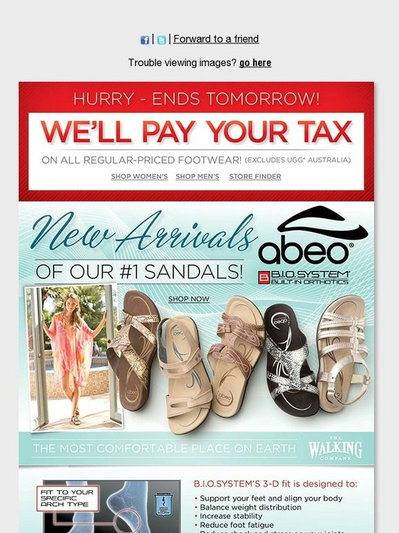 f80d502e58f NEW Arrivals of our #1 Sandals - ABEO B.I.O.system | We'll Pay Your Tax! - The  Walking Company