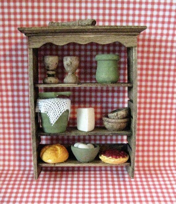 Tudor Shelf, Dollhouse Wall Shelf, Country Style Shelf