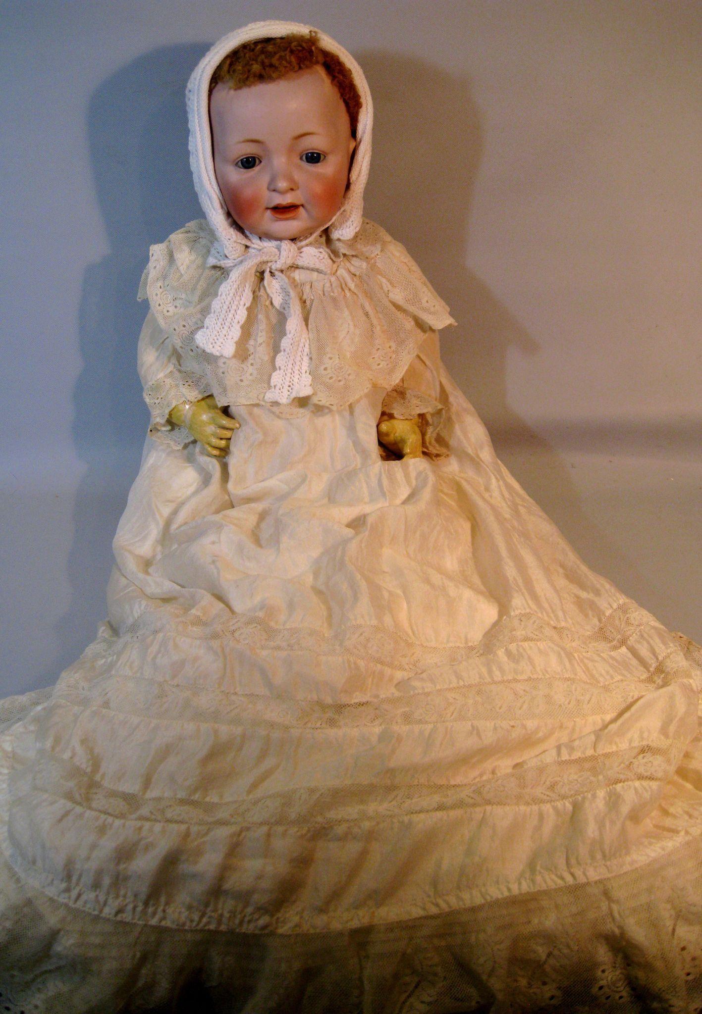 "Huge 25"" Kestner 211 Sammy German Baby Doll Life Size Baby"