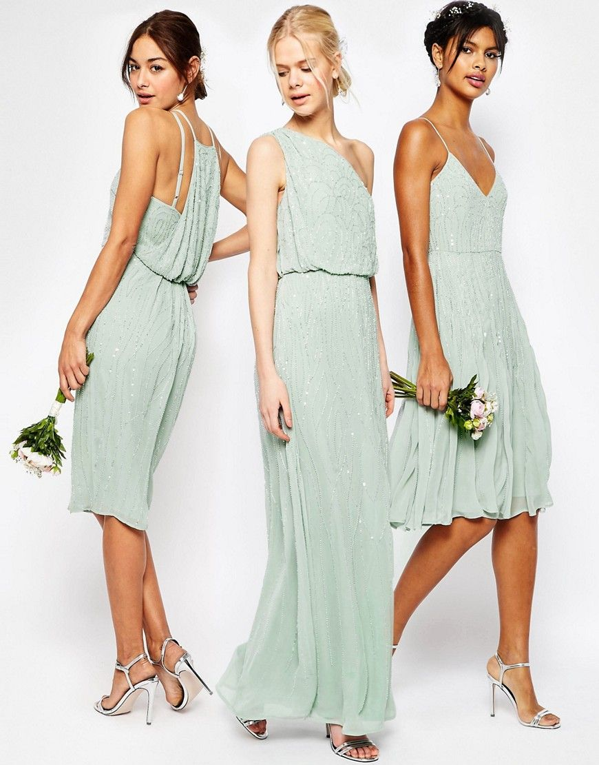 Image 4 of asos wedding embellished cami drape back midi pencil find this pin and more on bridesmaid dresses ombrellifo Images