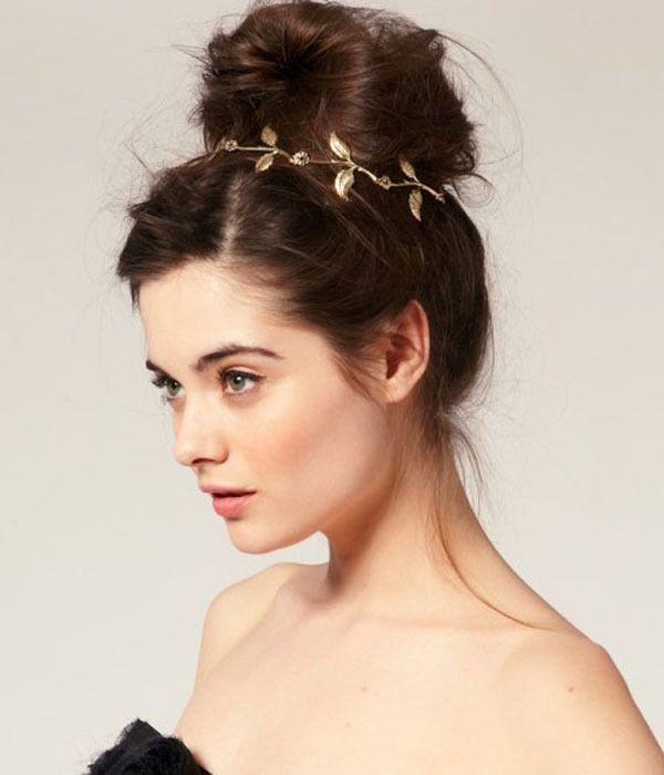 670b5a9f3 messy high bun Aliexpress.com Olive Leaf Hair Jewelry | Wedding hair ...