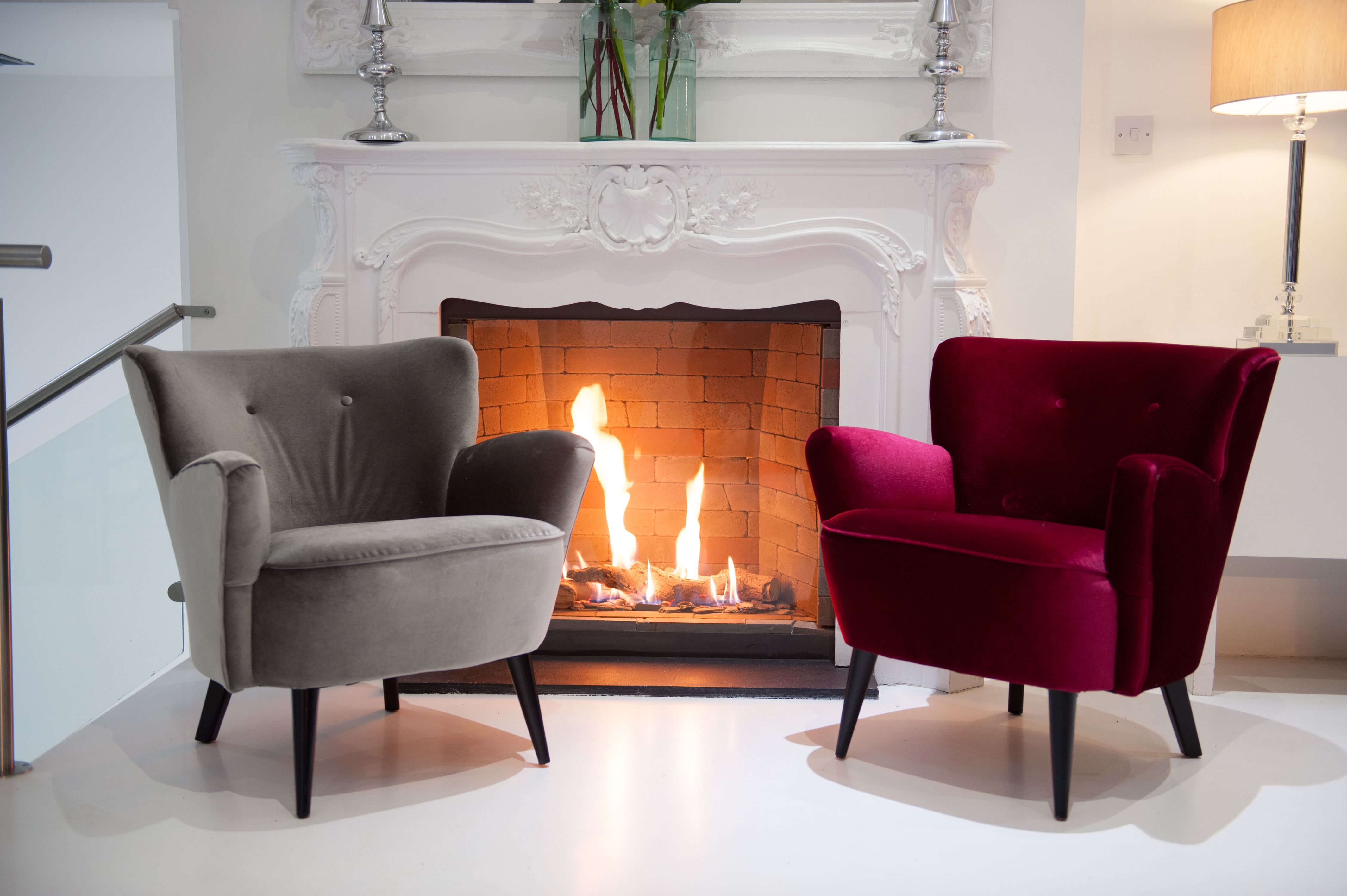 Grey And Red Velvet Solo Chair Solochair Velvetchair Greyvelvet Redvelvet Velvetsofa Loungesofa Loungeare In 2020 Velvet Living Room Fire Pit Sets Red Furniture #red #velvet #living #room #set