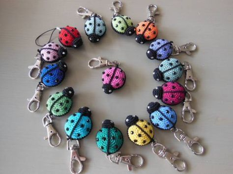 Amigurumi Pattern Ladybug Keychain Decorations Pinterest