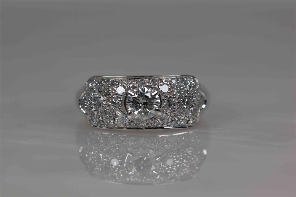 Vintage Platinum & Diamond Cocktail Ring in 2020